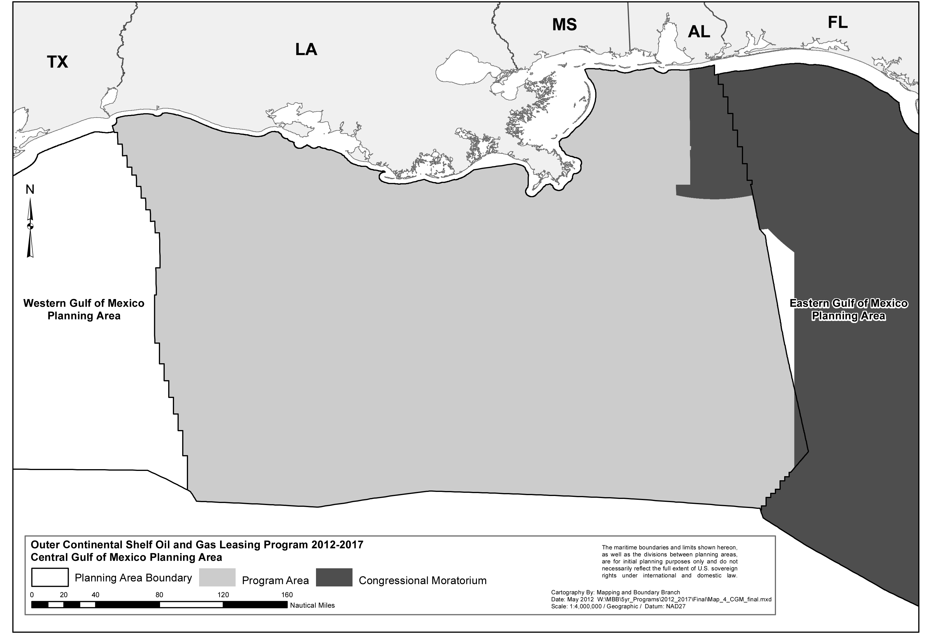 1Central Gulf of Mexico Program Area