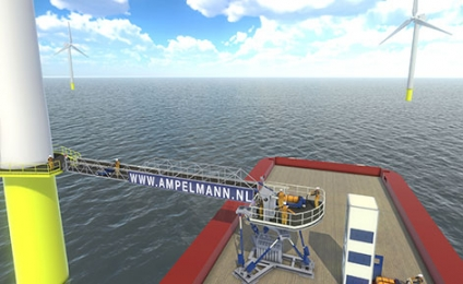 Vroon Offshore Services and Ampelmann Join Forces for Arkona Wind Farm Project