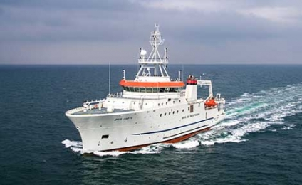 Damen Delivers 74-meter Fishery Research Vessel to Angolan Government