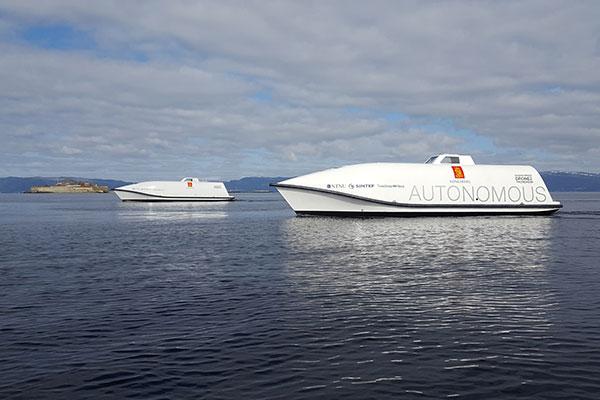 Update1 KM KONGSBERG Ocean Space Drone 1 and 2