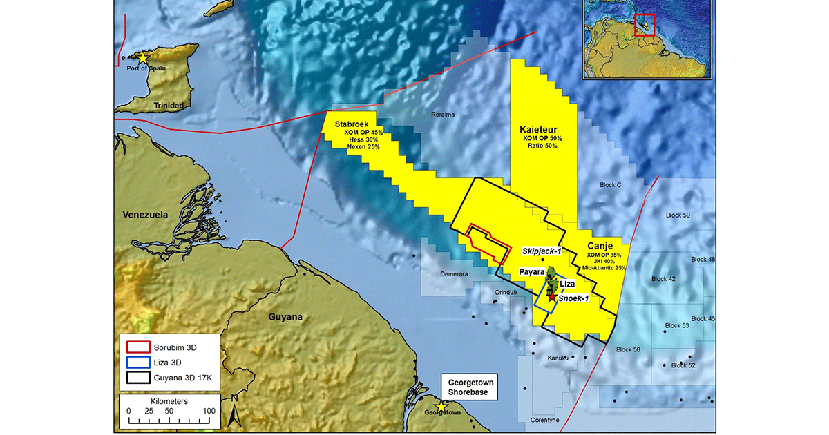 ExxonMobil Makes 10th Discovery offshore Guyana, Increases Estimate
