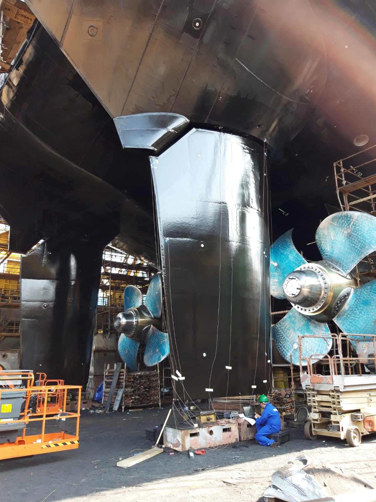 2 Full spade rudders by Damen Marine Components for ASRV Nuyina