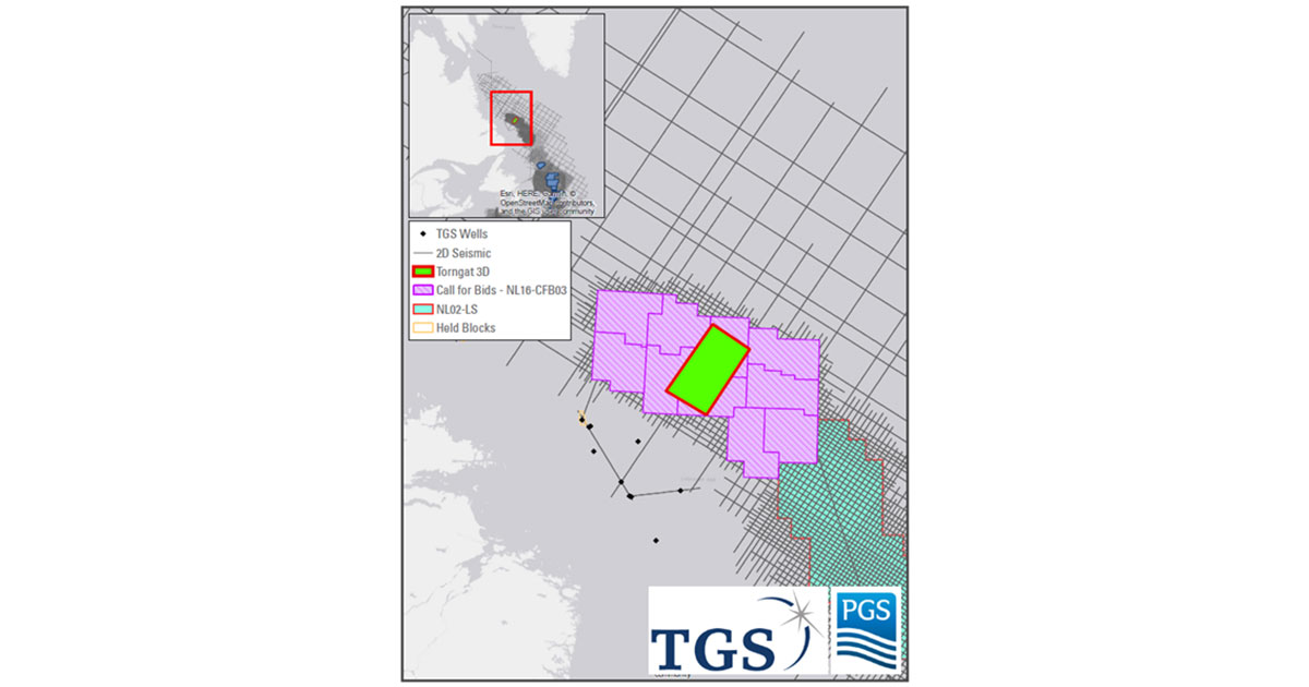 TGS and PGS Announce Torngat 3D Offshore East Canada