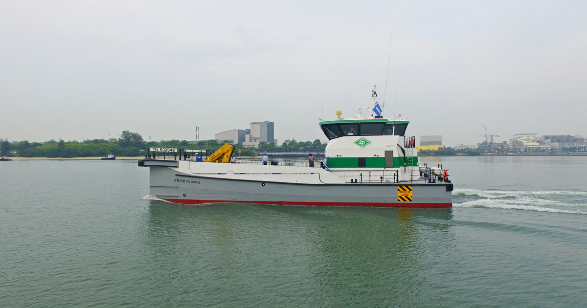 Third Damen Fast Crew Supplier for Hung Hua Construction in Taiwan