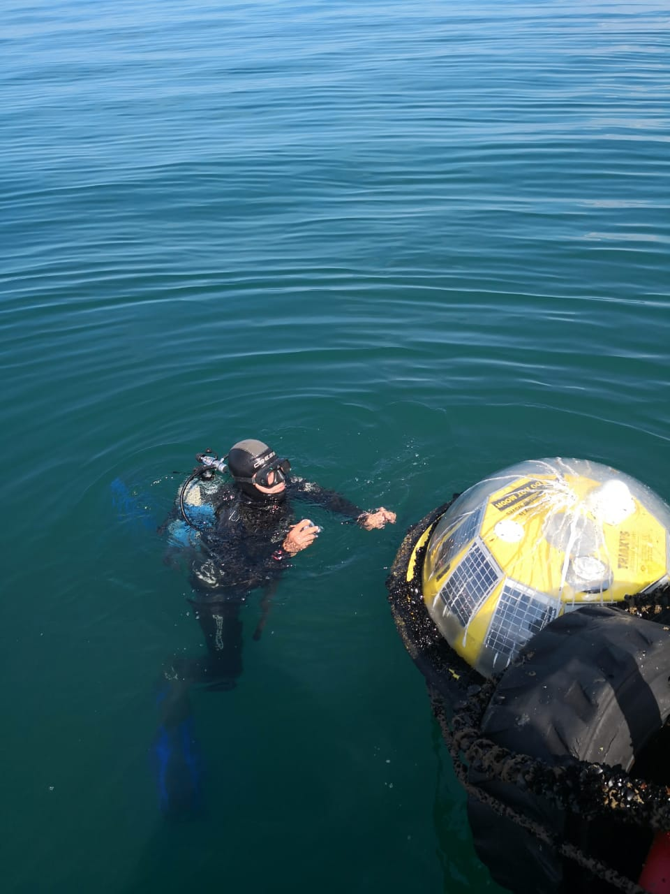 5 Diver inspection of wave buoy