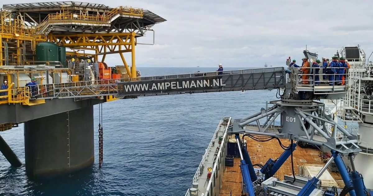 Ampelmann and Olympic Shipping Supporting Ithaca Energy in the North Sea