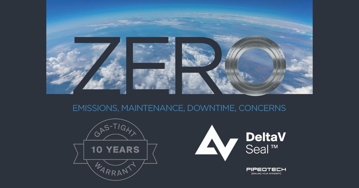 Pipeotech Offering 10-Year Gas-Tight Guarantee on Its Innovative DeltaV-Seal