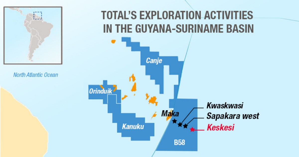Total and Apache Make Significant Oil & Gas Discovery Offshore Suriname